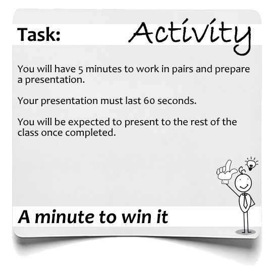 Activity Minute to win it
