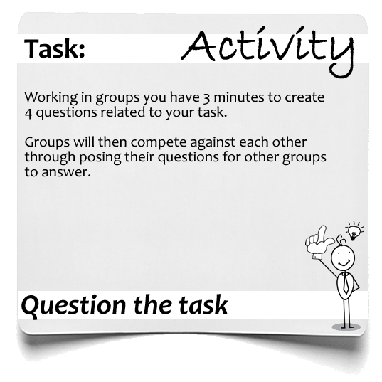 Question the task