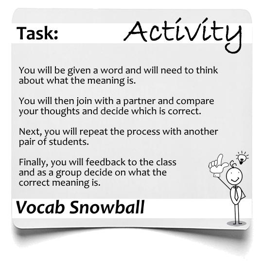 Vocab Snowball