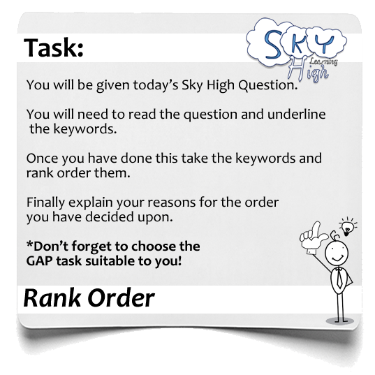 Sky High Rank Order