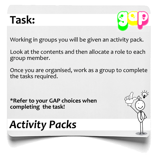 Activity Packs  GAP