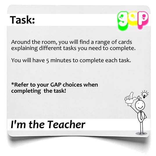 Im the teacher GAP