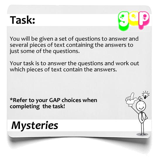 Mysteries GAP 1