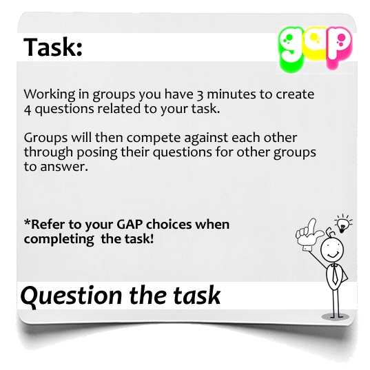 Question the task GAP