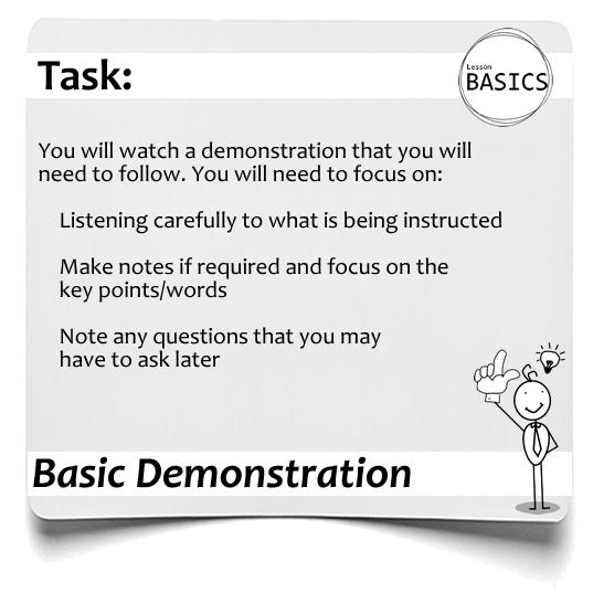 Lesson Basics Demonstration