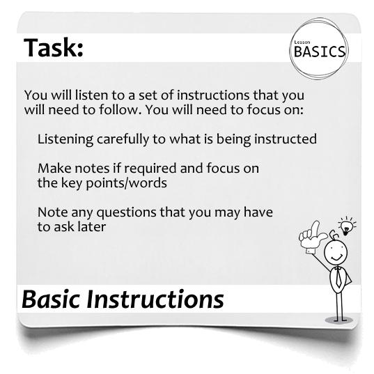 Lesson Basics Instructions