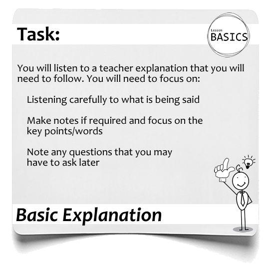 Lesson Basics Teacher Explanation