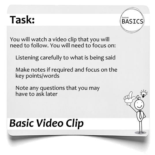Lesson Basics Video Clip1