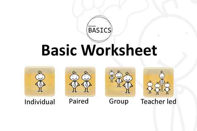 Lesson Basics- Worksheet
