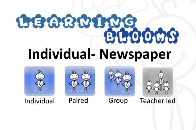 Individual Blooms Newspaper