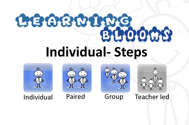 Individual Blooms Step by step