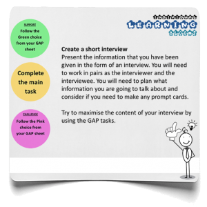 Short interview infographic