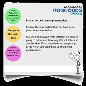 Short presentation infographic