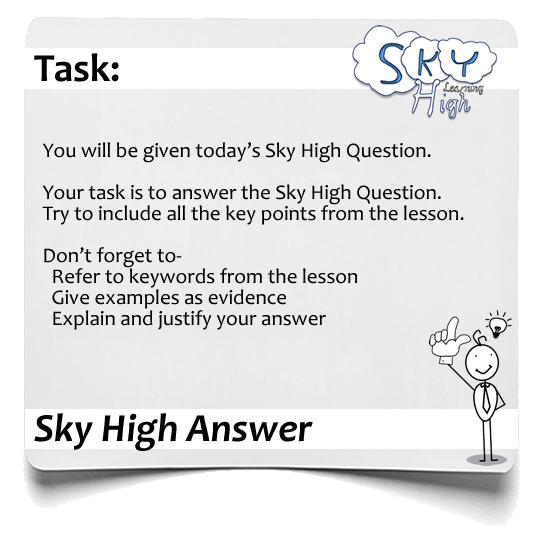Sky High Question Answer