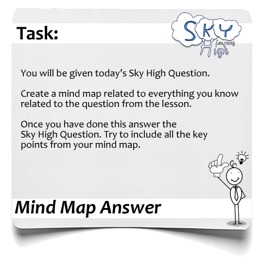 Sky High Questions Mind Map Answer