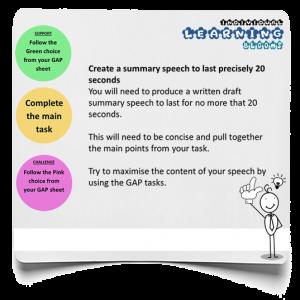 Speech summary infographic