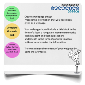 Webpage infographic
