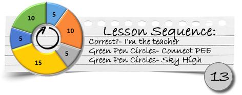 Info bar lesson 13
