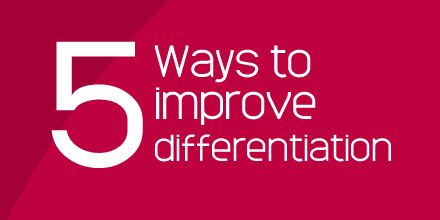 5 ways to imrpove differentiation